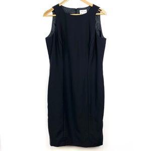 Oscar de la Renta Black Dress Sheath Size 10
